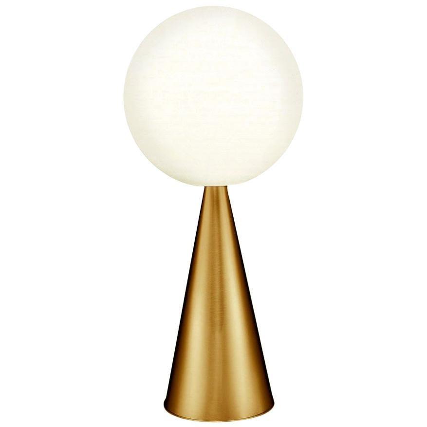 Gio Ponti 'Bilia' Table Lamp in Brass for Fontana Arte