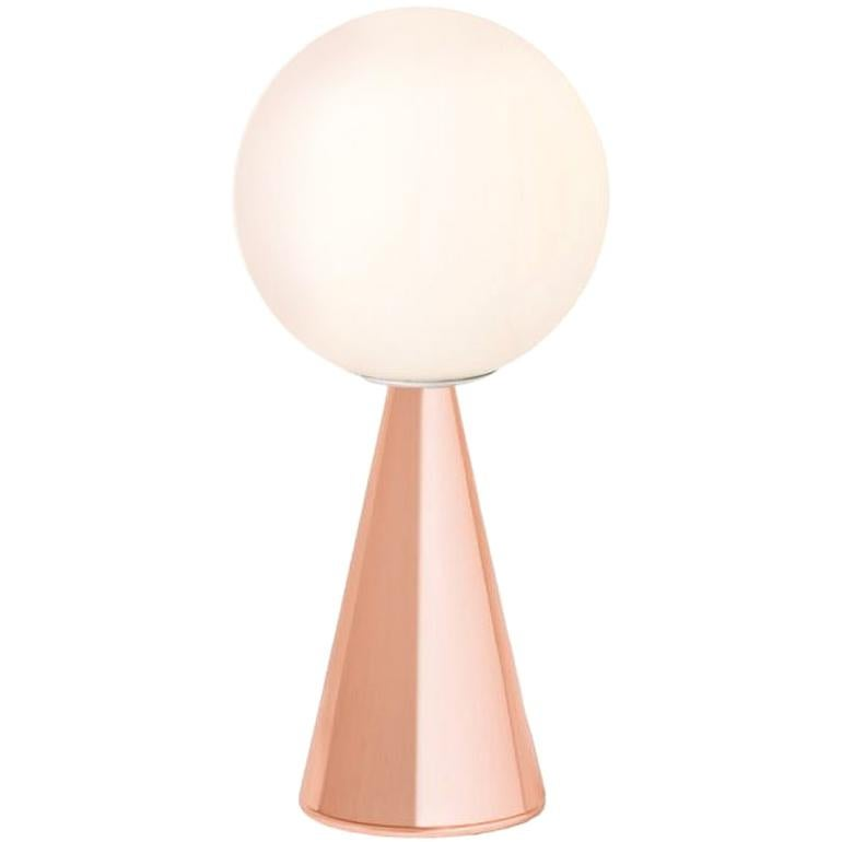 Gio Ponti 'Bilia' Table Lamp in Pink for Fontana Arte