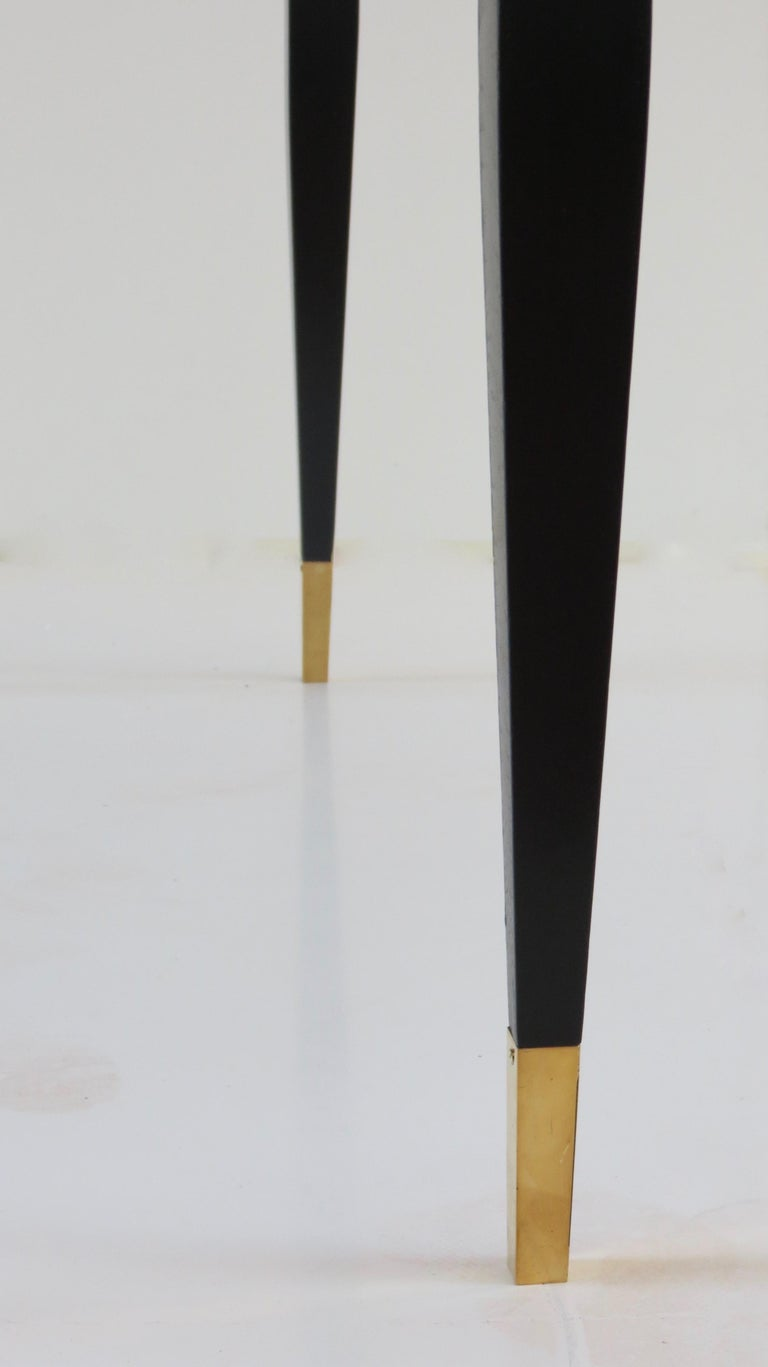 Gio Ponti Black Lacquered Vanity Desk Table Two Drawers from Hotel PdP Roma 1965 For Sale 5
