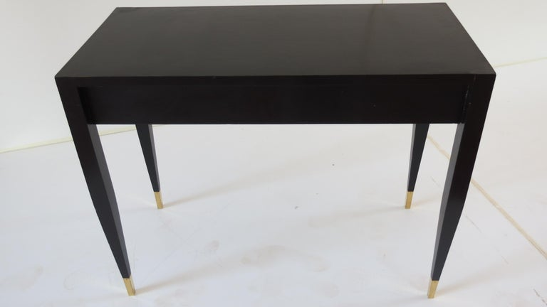Gio Ponti Black Lacquered Vanity Desk Table Two Drawers from Hotel PdP Roma 1965 For Sale 8
