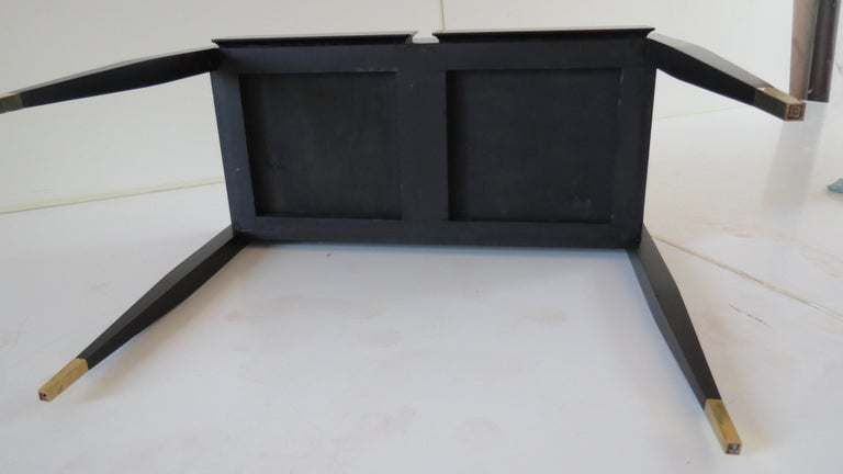 Gio Ponti Black Lacquered Vanity Desk Table Two Drawers from Hotel PdP Roma 1965 For Sale 11
