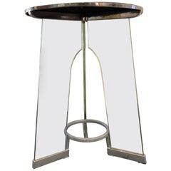 Gio Ponti Black Vitrolite Tempered Glass Occasional Table for Fontana Arte, 1932