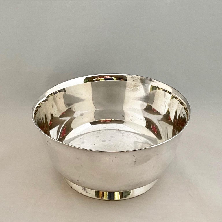 20th Century Gio Ponti Bowls for ARTHUR KRUPP 1930's to 50's Silvered metal  For Sale