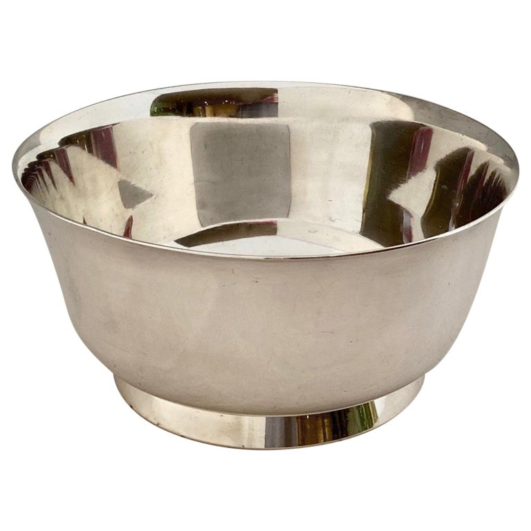 Gio Ponti Bowls for ARTHUR KRUPP 1930's to 50's Silvered metal  For Sale