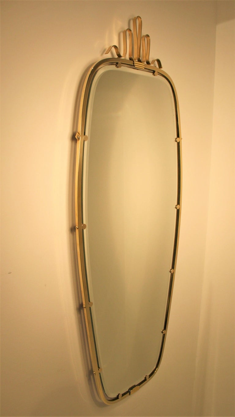 Gio Ponti Brass Mirror, 1930s In Good Condition For Sale In Belgium, BE