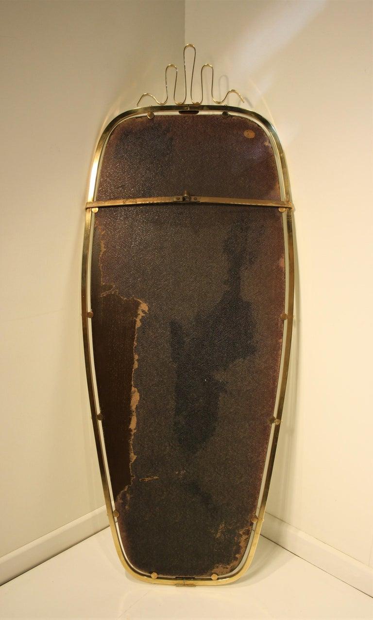 Mid-20th Century Gio Ponti Brass Mirror, 1930s For Sale