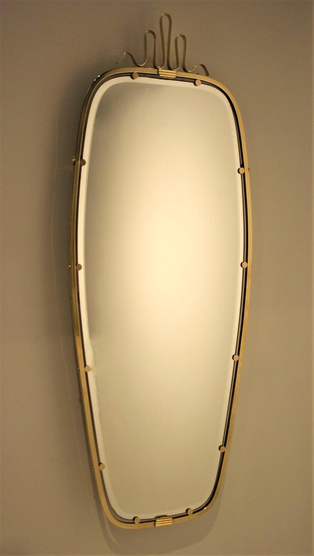 Gio Ponti Brass Mirror, 1930s For Sale 2