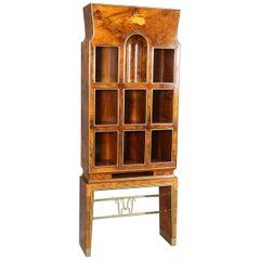 Gio Ponti Briarwood Bookcase for Opera Omnia by Gabriele D'Annunzio, Certified
