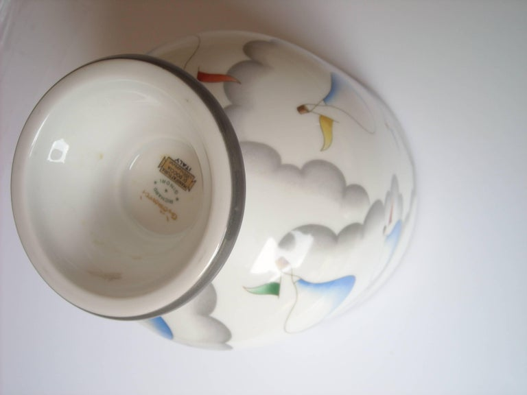 Italian Gio Ponti Ceramic Vase or Urn for Richard Ginori, Signed For Sale