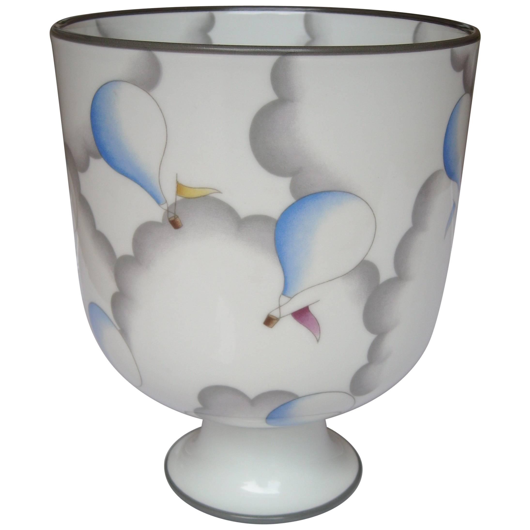 Gio Ponti Ceramic Vase or Urn for Richard Ginori, Signed