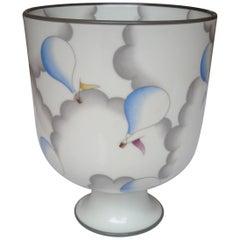 Keramik-Vase oder Urne von Gio Ponti für Richard Ginori, signiert
