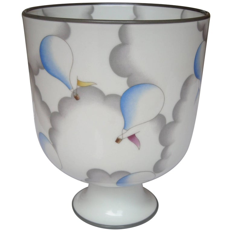 Gio Ponti Ceramic Vase or Urn for Richard Ginori, Signed For Sale
