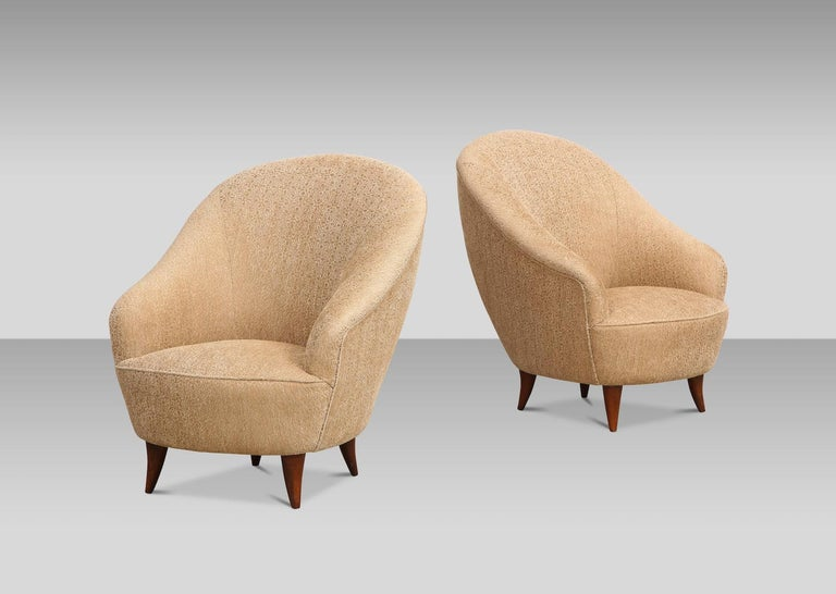 Italian Rare Pair of Chairs by Gio Ponti For Sale