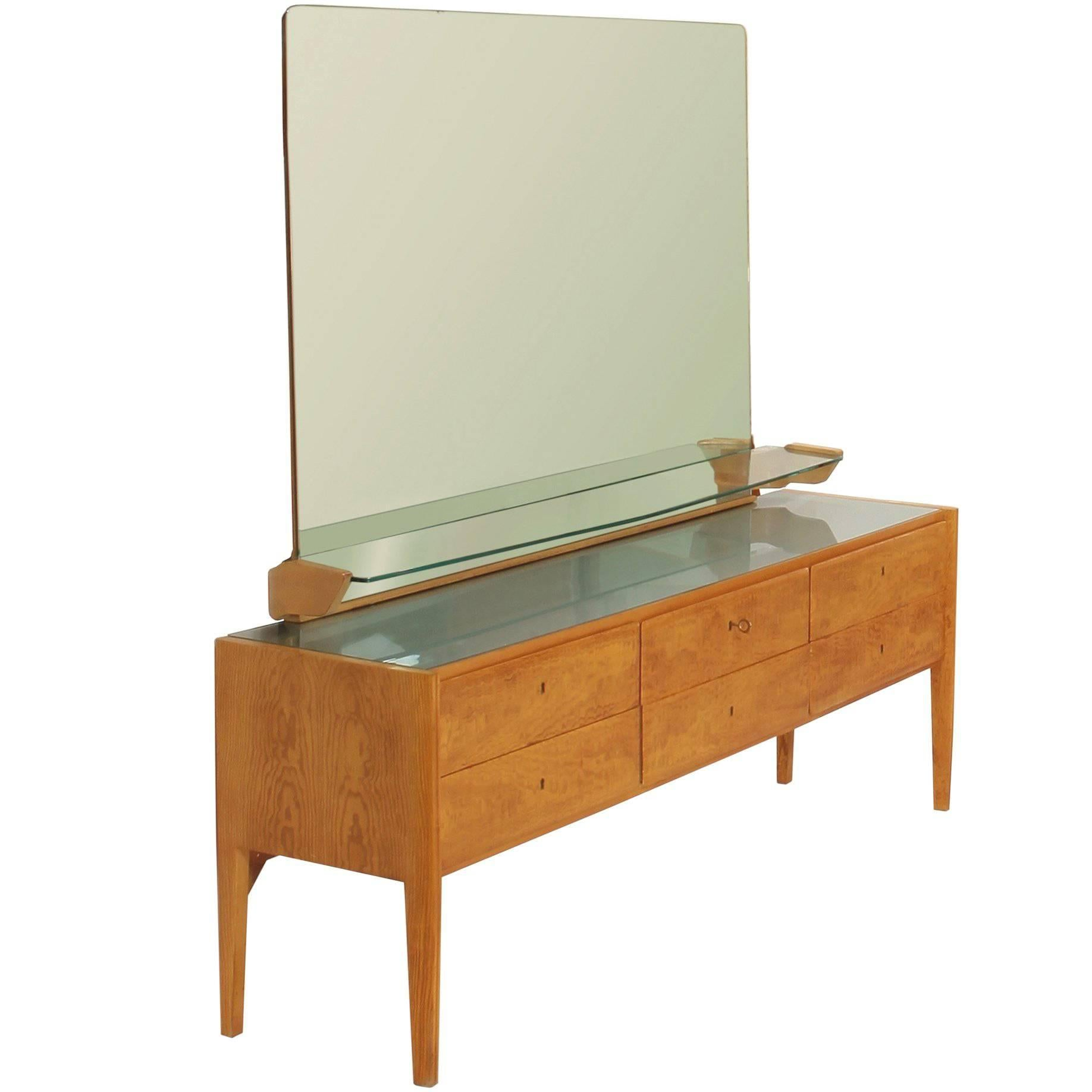 Gio Ponti Chest Of Drawers With Mirror For Sale