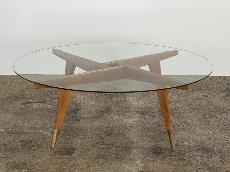Tempered Gio Ponti Cocktail Table For Sale