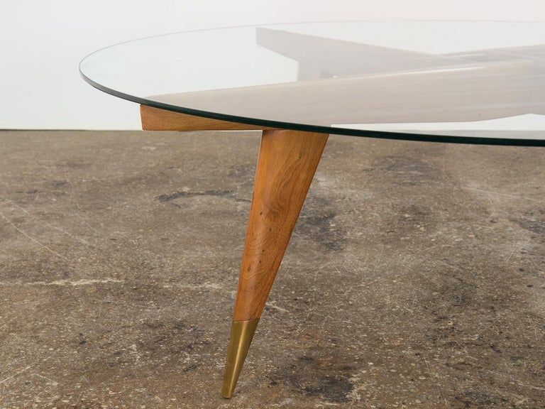 Glass Gio Ponti Cocktail Table For Sale