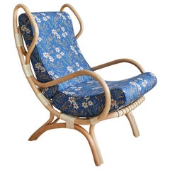 Gio Ponti Continuum Rattan Lounge Chair