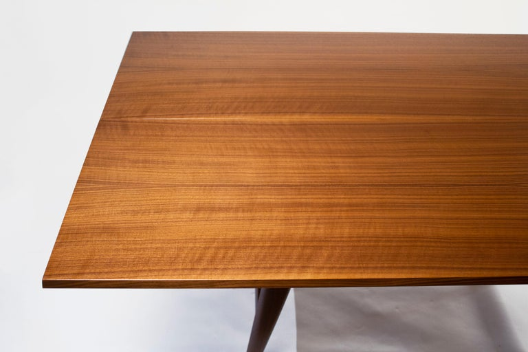Gio Ponti Convertible Console / Dining Table for M. Singer & Sons in Walnut 1950 For Sale 4