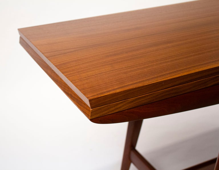 Gio Ponti Convertible Console / Dining Table for M. Singer & Sons in Walnut 1950 For Sale 5