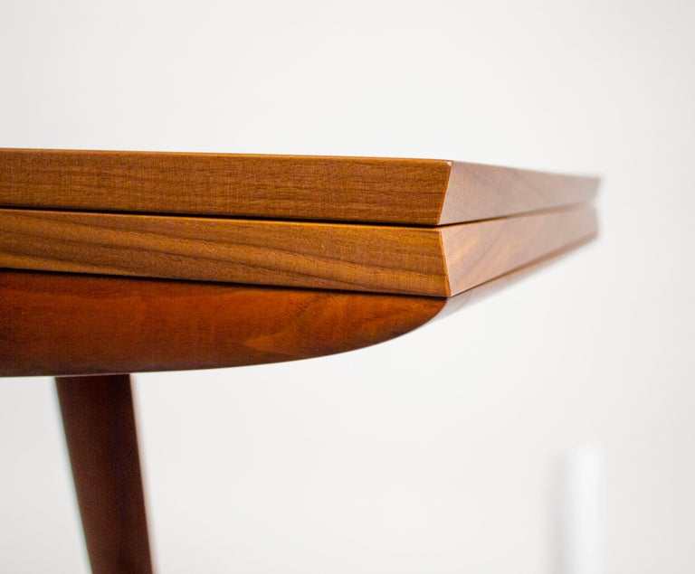 Gio Ponti Convertible Console / Dining Table for M. Singer & Sons in Walnut 1950 For Sale 7