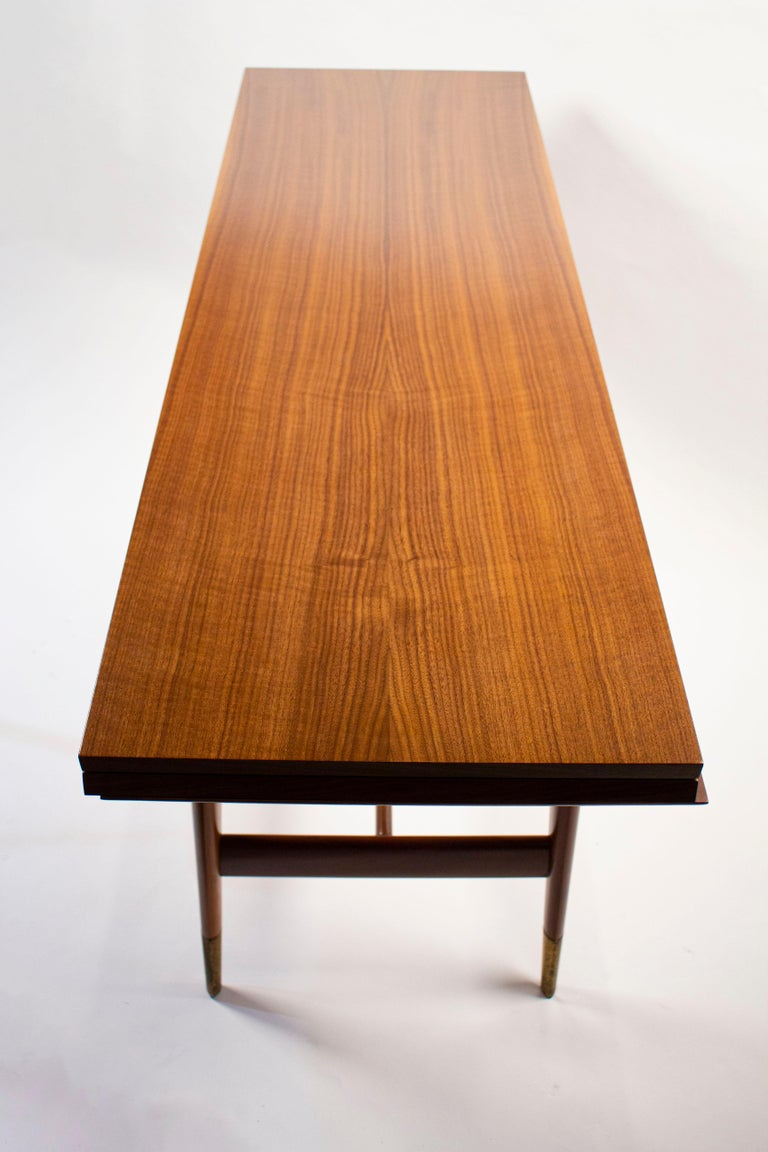Gio Ponti Convertible Console / Dining Table for M. Singer & Sons in Walnut 1950 For Sale 8