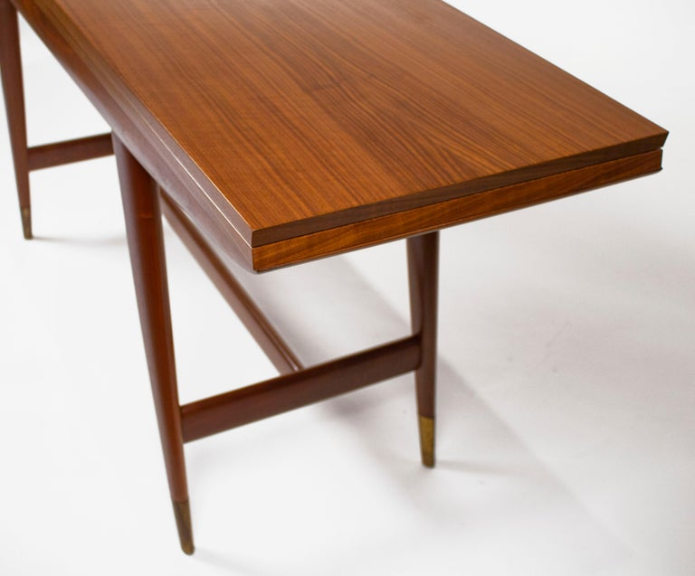 Gio Ponti Convertible Console / Dining Table for M. Singer & Sons in Walnut 1950 For Sale 9