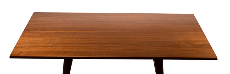 20th Century Gio Ponti Convertible Console / Dining Table for M. Singer & Sons in Walnut 1950 For Sale