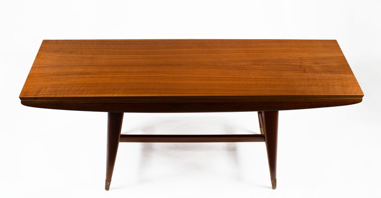 Gio Ponti Convertible Console / Dining Table for M. Singer & Sons in Walnut 1950 For Sale 1