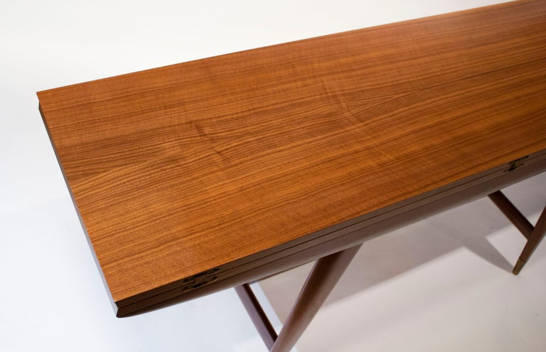 Gio Ponti Convertible Console / Dining Table for M. Singer & Sons in Walnut 1950 For Sale 2