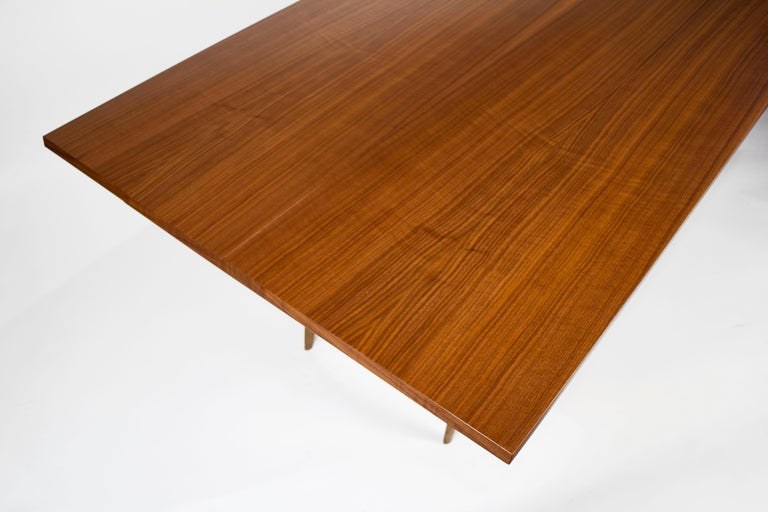 Gio Ponti Convertible Console / Dining Table for M. Singer & Sons in Walnut 1950 For Sale 3