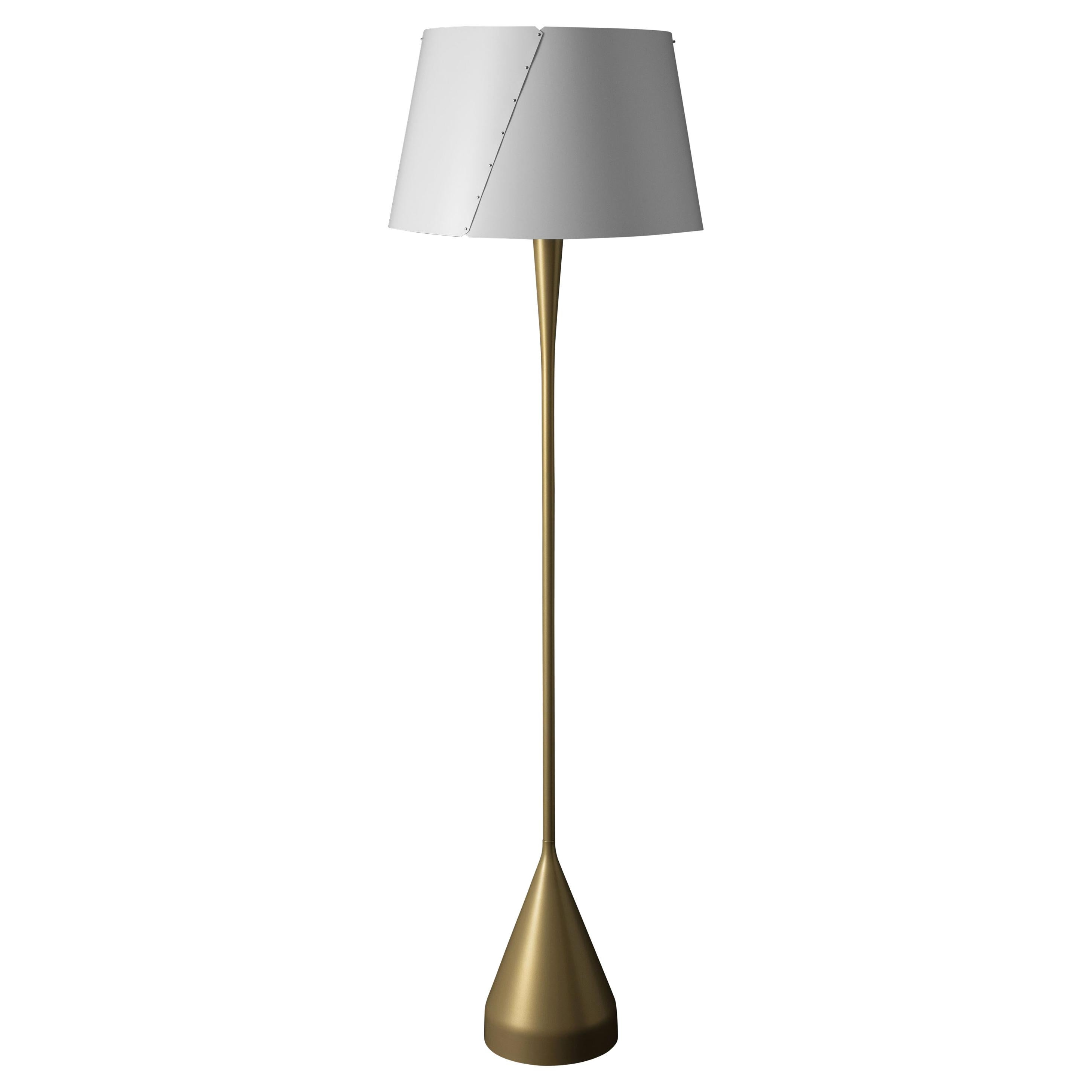 Gio Ponti De-Lux A4 Floor Lamp in Gold