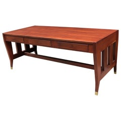 Gio Ponti Designed Three-Drawer Modernist Desk