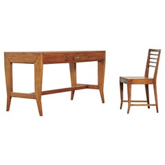 Gio Ponti Desk and Chair from the Lavoro Bank, Italy, 1950s