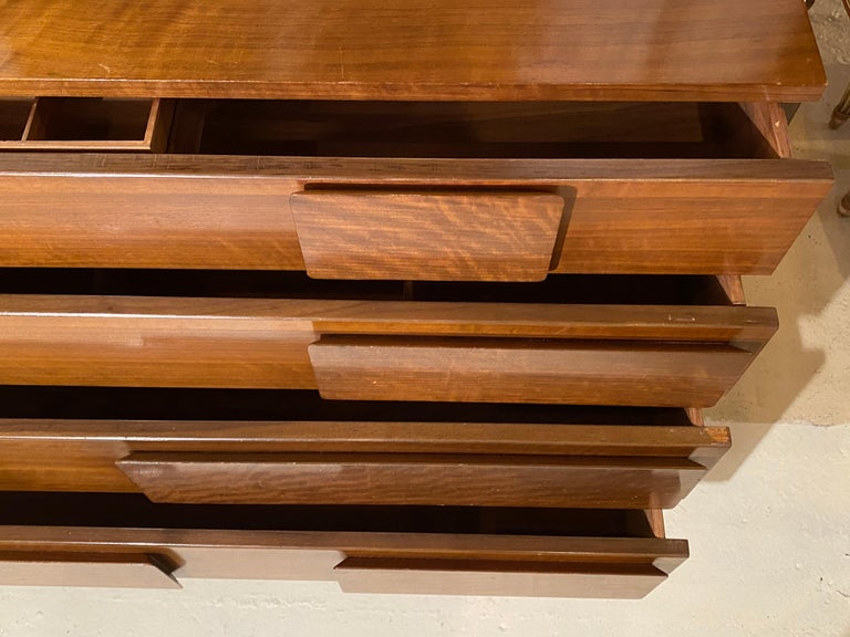 Gio Ponti Double Dresser Low Chest Signed M. Singer and Sons Model 2161 For Sale 9