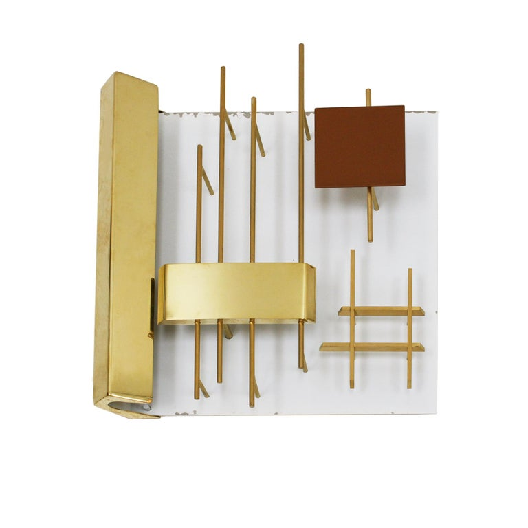 Lacquered Gio Ponti Edited by Lumi Original Italian 1960s Pair of Sconces For Sale