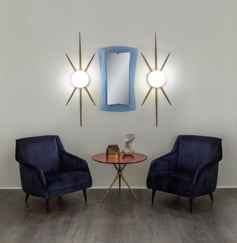 Gio Ponti for Arredoluce Rare Pair of Sconces or Ceiling Lights In Good Condition For Sale In New York, NY
