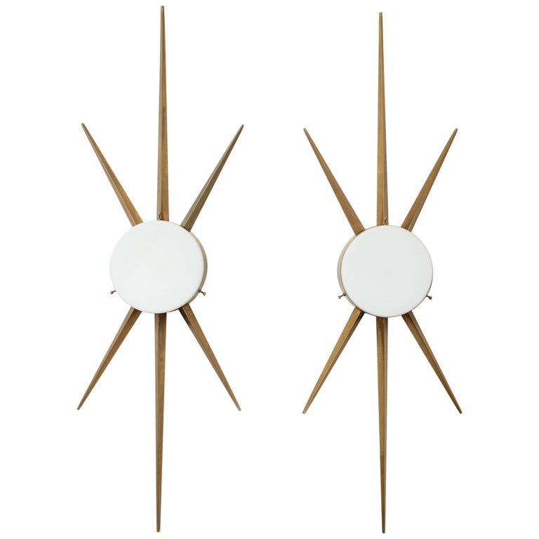 Gio Ponti for Arredoluce Rare Pair of Sconces or Ceiling Lights For Sale