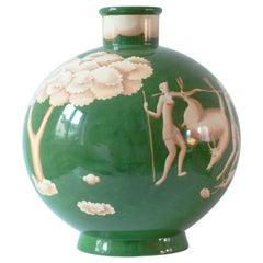 Gio Ponti for Ginori, Art Deco Vase, Signed