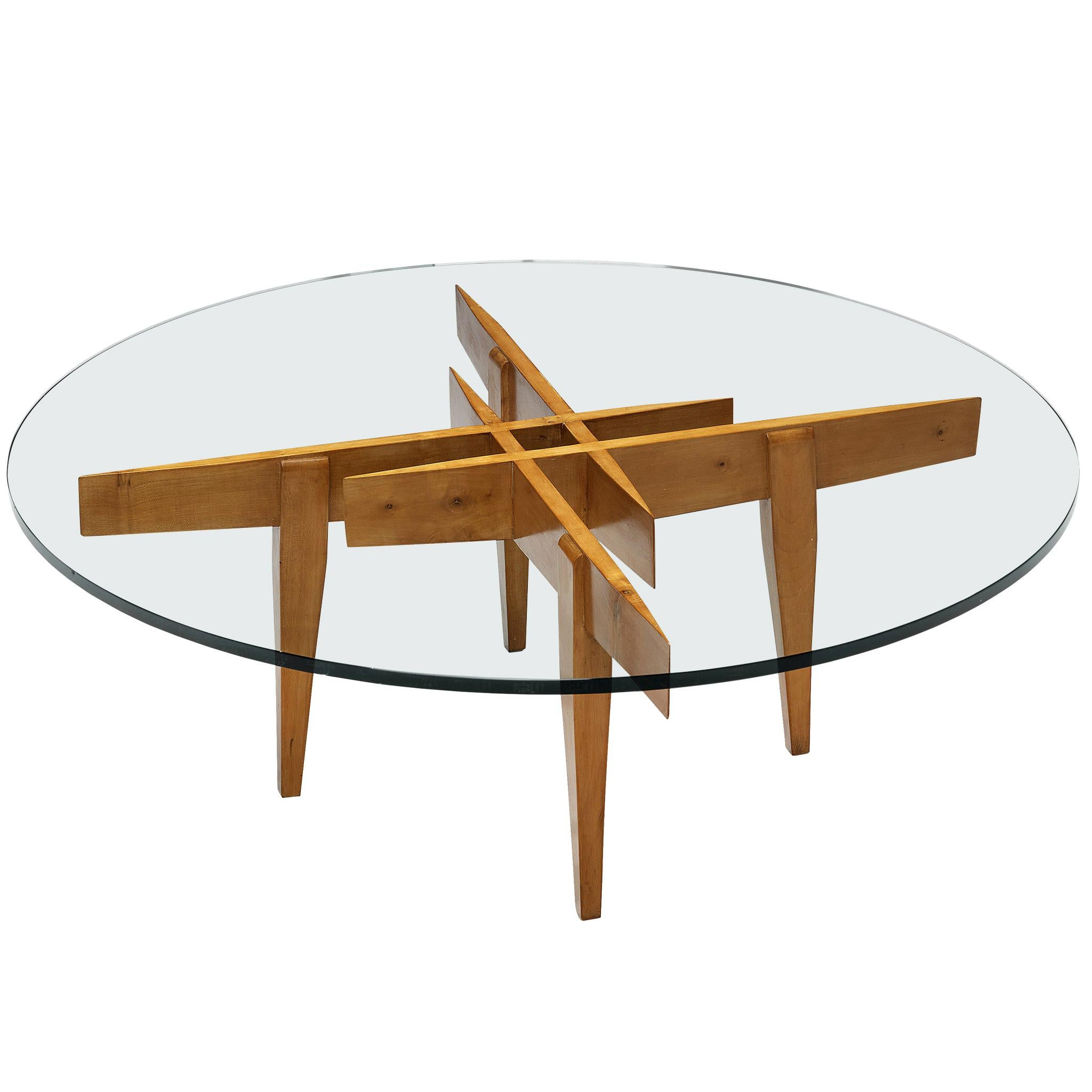 Gio Ponti for Giordano Chiesa Sculptural Coffee Table in Maple