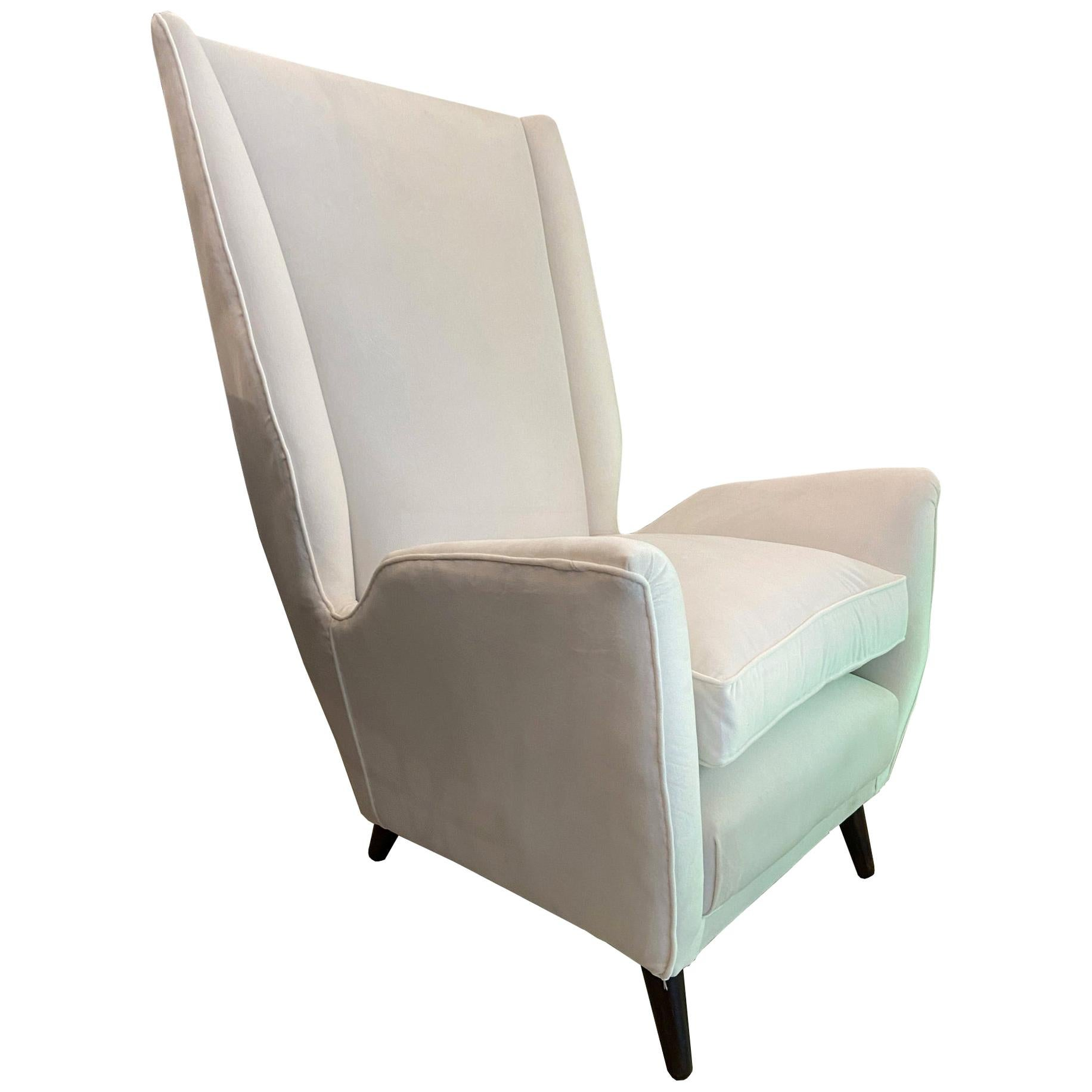 Gio Ponti for ISA High Back Armchair, Italy, 1950s