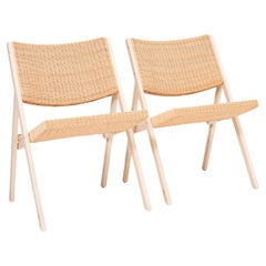 Gio Ponti for Molteni&C D.270.1 Folding Chairs, Set of 2