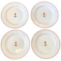 Gio Ponti for Richard Set of Four Italian Ceramic Plates, 1937