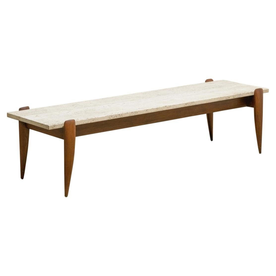 Gio Ponti for Singer & Sons Travertine Top Coffee Table