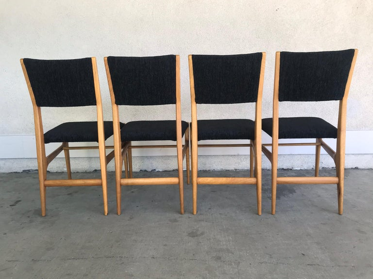 Gio Ponti Four Dining Chairs, 20th Century For Sale 3
