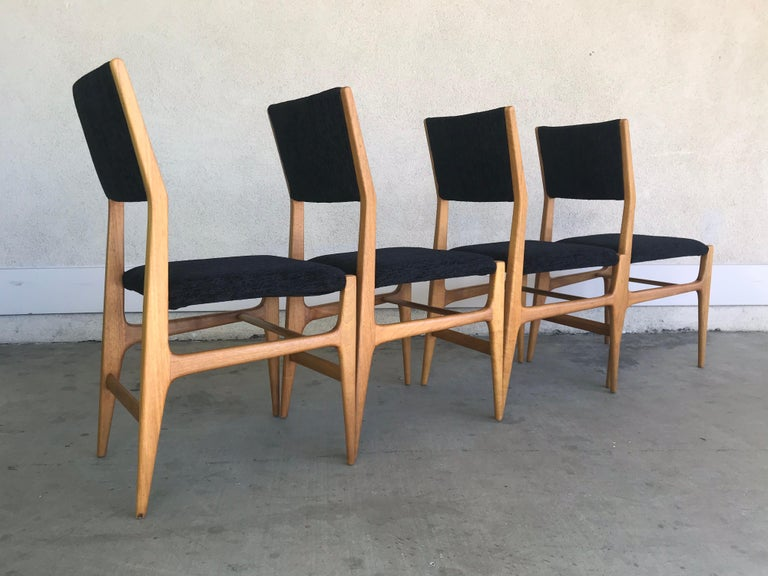 Gio Ponti Four Dining Chairs, 20th Century For Sale 4