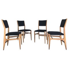 Gio Ponti Four Dining Chairs, 20th Century