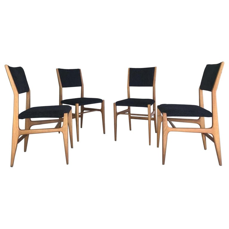 Gio Ponti Four Dining Chairs, 20th Century For Sale