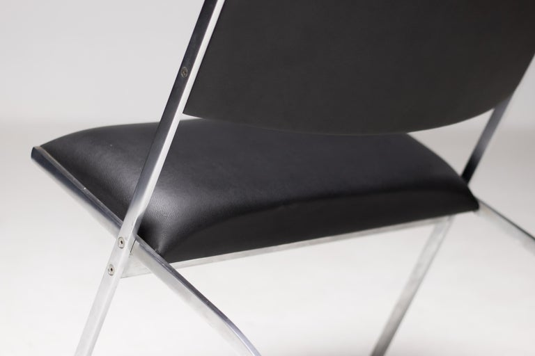 Stainless Steel Gio Ponti Gabriella Chair For Sale