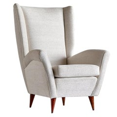 Gio Ponti High Back Armchair, Late 1940s