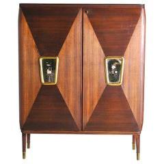 Gio Ponti in the Style Cabinet Bar Late 40